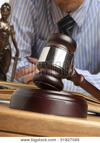 Gavel & male judge Gavel & male judge