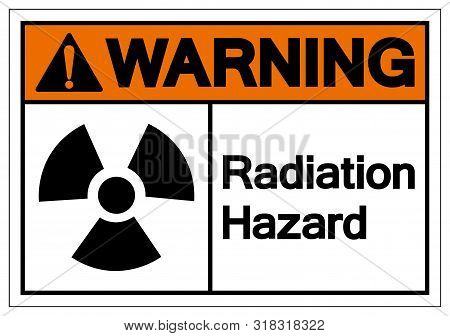 Warning Radiation Hazard Symbol Sign, Vector Illustration, Isolate On White Background Label. Eps10