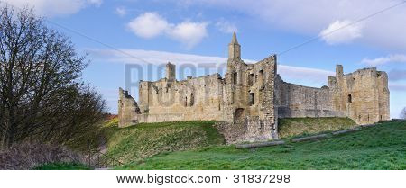 Warkworth Castle Panorama