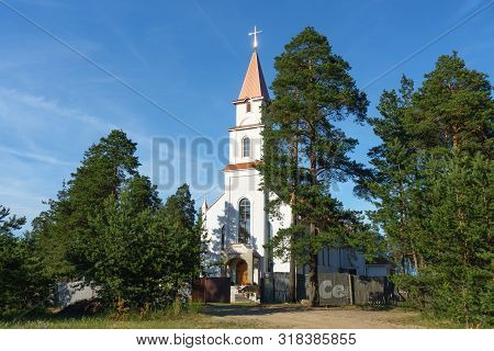 Borisov, Belarus - June 24, 2019: Catholic Church Of The Savior Of The Holy Spirit In Borisov