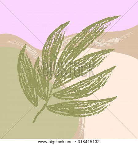 Creative Universal Aesthetic Floral Card Hand Drawn Abstract Shape Texture Modern Trendy Graphic In