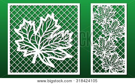 Laser Cut Panels. Stencil For Fretwork, Wood Or Metal Decorative Cutout, Paper Art Templates.  For I