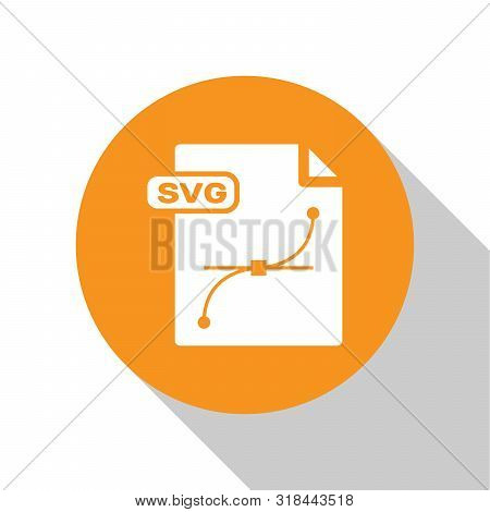 White Svg File Document. Download Svg Button Icon Isolated On White Background. Svg File Symbol. Ora