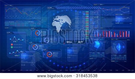 Hud Trading, Great Design For Any Purposes. Trading Platform. Professional Trader Tools For Successf