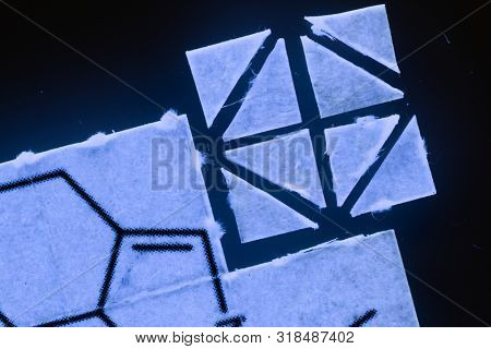 pieces of paper with chemical structures, micro dosing concept