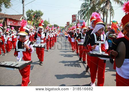 A Parade Of Traditional Cultural Costumes By Young People At The 74th Republic Of Indonesia Annivers