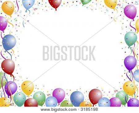 Balloon And Confetti Frame