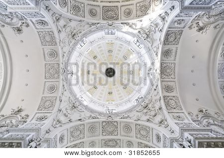 An image of the dome of the Theatinerkirche in Munich Germany poster