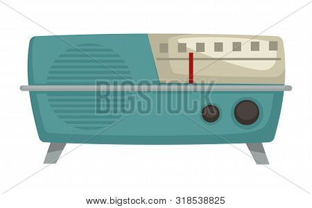 1960s Radio Isolated Vector Object, Vintage Technologies