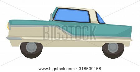 Retro Car, Vintage Vehicle Of 1960s, Isolated Transport