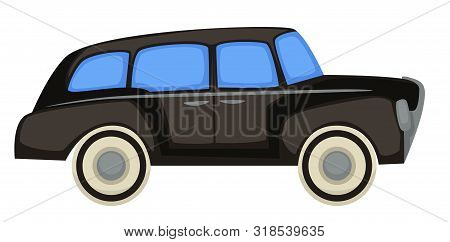 1940s Car, Vintage Vehicle, Automobile History Isolated Transport