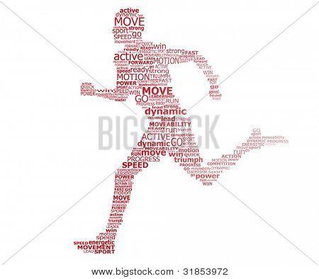 Typography runner