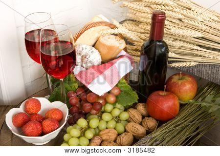 Wine And Basket
