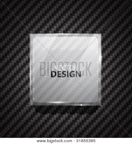 Glass ad square banner on carbon fiber