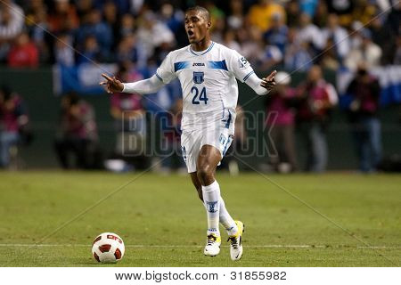CARSON, CA. - JUNE 6: Honduras player D Brayan Beckeles #24 in action during the 2011 CONCACAF Gold Cup group B game on June 6 2011 at the Home Depot Center in Carson, CA.
