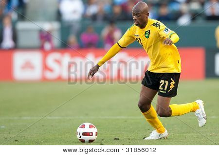 CARSON, CA. - JUNE 6: Jamaica player F Luton Shelton #21 during the 2011 CONCACAF Gold Cup group B game on June 6 2011 at the Home Depot Center in Carson, CA.