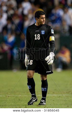CARSON, CA. - JUNE 6: Honduras GK player Noel Valladares #18 during the 2011 CONCACAF Gold Cup group B game on June 6 2011 at the Home Depot Center in Carson, CA.