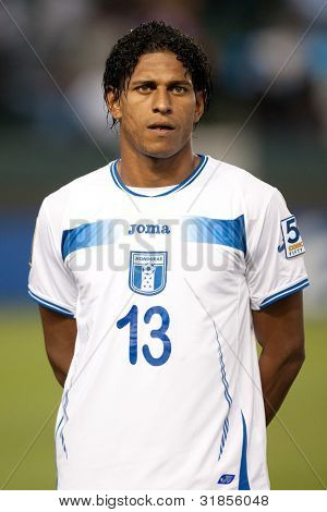CARSON, CA. - JUNE 6: Honduras F player Carlo Costly #13 before the 2011 CONCACAF Gold Cup group B game on June 6 2011 at the Home Depot Center in Carson, CA.