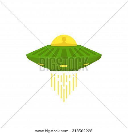 Unidentified Flying Object, Alien In Flat Style