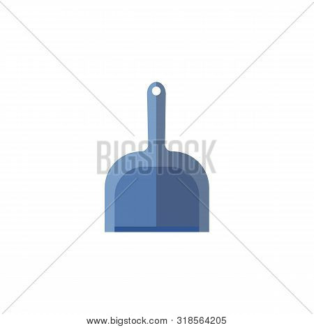 House Cleaning Tool Icon The Dustpan Flat Vector Illustration Isolated On White.