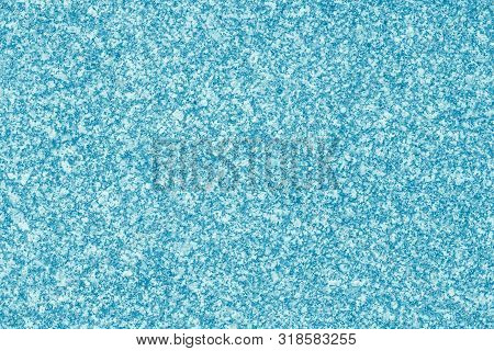 Blue Abstract Background. Mottled Frame, Spotty Card. Light Color Pitted Surface, Texture. Dapple Pa