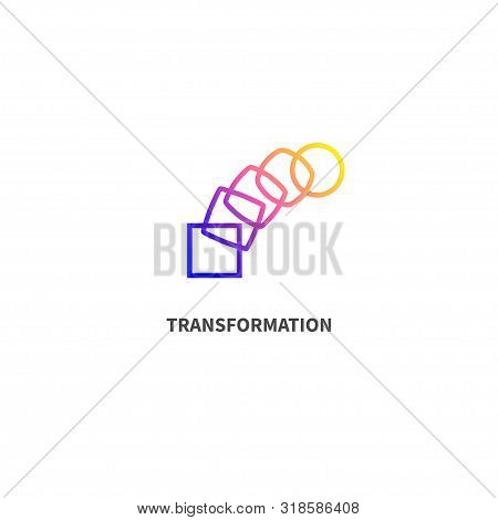 Change Icon, Transformation, Evolution, Development Coaching Color Logo Vector Illustration