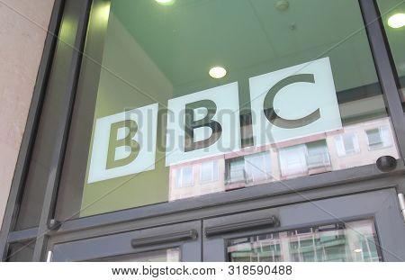 London England - June 3, 2019: Bbc British Broadcasting Corporation Office London Uk