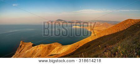 Crimea Coast Summer Vacation Sea Blue Landscape Sun Day Nature Travel