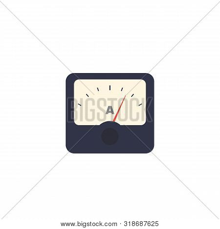 Ammeter Icon Isolated On White, Eps 10 File, Easy To Edit