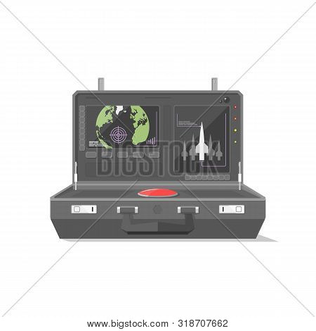 The Black Nuclear Briefcase Has Two Displays The One Is A World Map The Another Shows The Rockets Al