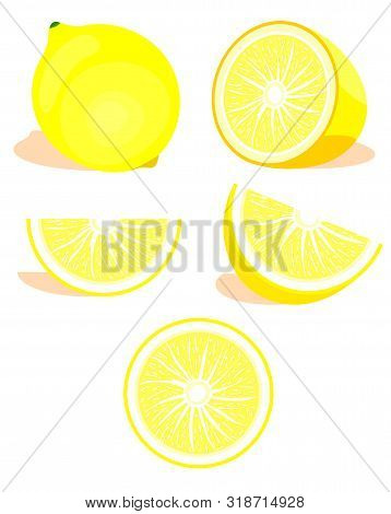 Lime,citrus Set. Modern Flat Cartoons Style Vector Illustration Icons. Isolated On White Background.