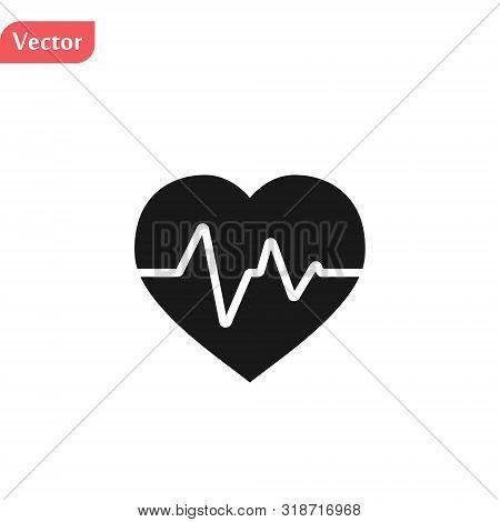 Black Electrocardiogram Icon. Logo Element Illustration. Electrocardiogram Design. Colored Collectio