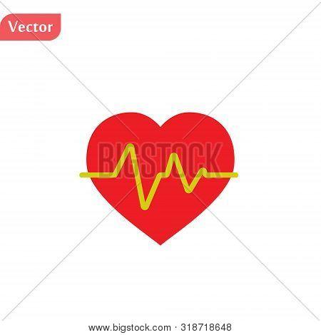 Electrocardiogram Icon. Logo Element Illustration. Electrocardiogram Design. Colored Collection. Ele