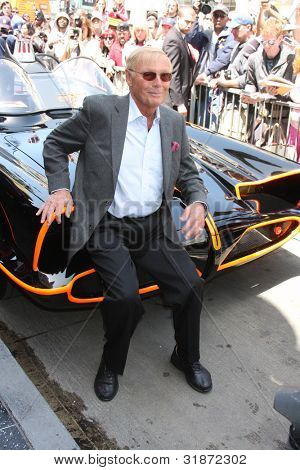 LOS ANGELES - APR 5:  Adam West, Batmobile at the Adam West Hollywood Walk of Fame Star Ceremony at Hollywood Blvd. on April 5, 2012 in Los Angeles, CA