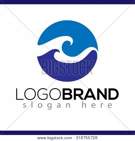 Wave Circle Logo Vector Element. Wave Logo Template