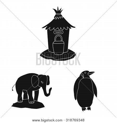 poster of Vector illustration of fauna and entertainment symbol. Collection of fauna and park stock vector illustration.