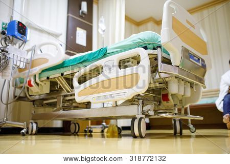 Modern Hospital Rooms, Hospital Patient Beds And Modern Medical Equipment, Beds And Comfortable Medi