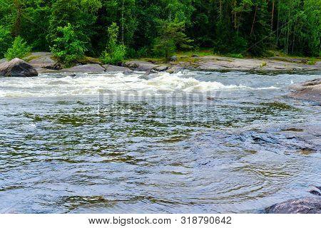 Finland, Kotka: Langinkoski Rapid On The Kumi River In Kotka. The Favorite Fishing Spot Of Emperor O