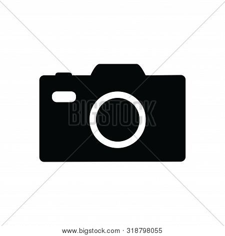 Photo Camera Icon Isolated Black On White Background, Photo Camera Icon Vector Flat Modern, Photo Ca