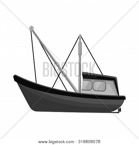 Isolated Object Of Fishery And Trawler Symbol. Collection Of Fishery And Naval Stock Vector Illustra