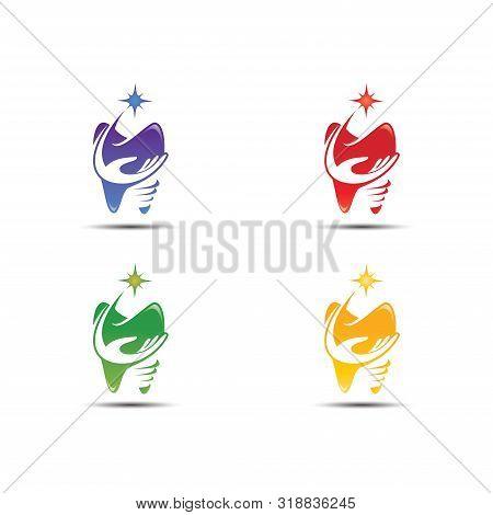 Dental Clinic Logo Template, Dental Care Logo Designs Vector, Health Dent Logo Design Vector Templat