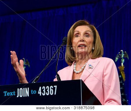 San Francisco, Ca - August 23, 2019: Speaker Of The House, Nancy Pelosi, Speaking At The Democratic