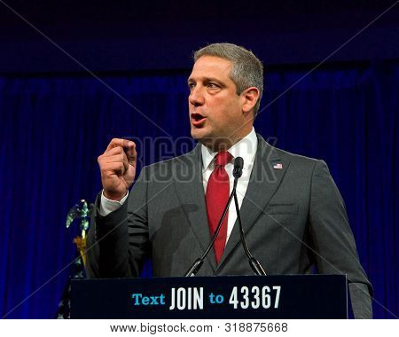 San Francisco, Ca - August 23, 2019: Presidential Candidate Tim Ryan Speaking At The Democratic Nati