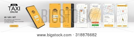 Call A Taxi Online, Mobile Application. Ui, Ux, Kit Application. Online Mobile Application Order Tax