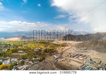 Autumn View Of Landscape In Leh Ladakh District ,norther Part Of India