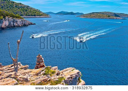 Kornati Islands Archipelago National Park Landscape View, Dalmatia Region Of Croatia