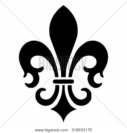 French Fleur De Lis Vector Icon Illustration