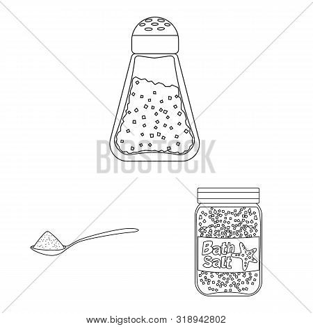 Vector Design Of Sodium And Mineral Icon. Collection Of Sodium And Kitchen Stock Symbol For Web.