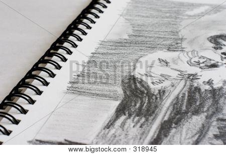 Sketchbook With Sketch