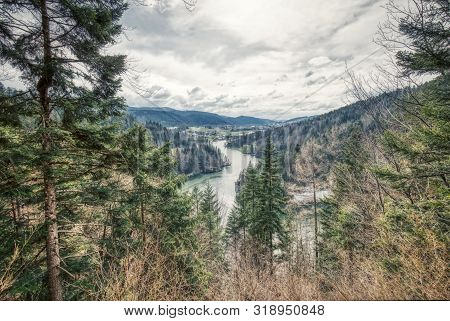 Amazing River Doubs On The Border Of France And Switzerland